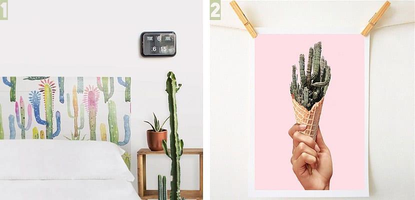 Accesorios decorativos de cactus