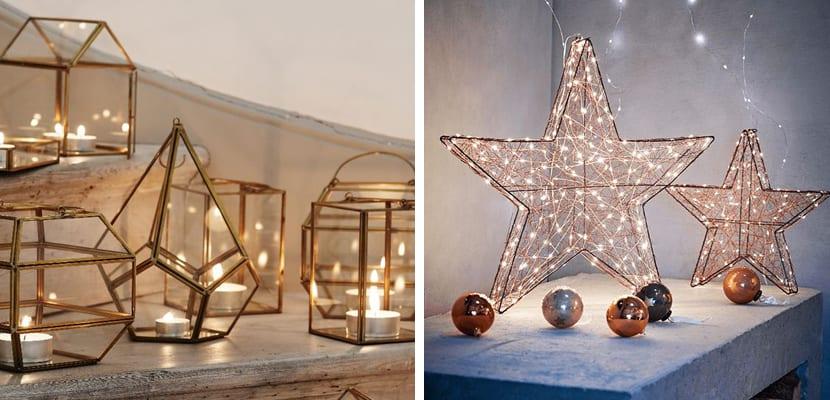 Accesorios de cobre para la navidad for Accesorios para decorar en navidad