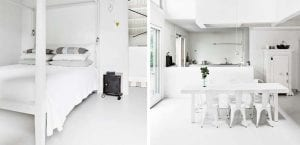 Apartamento color blanco