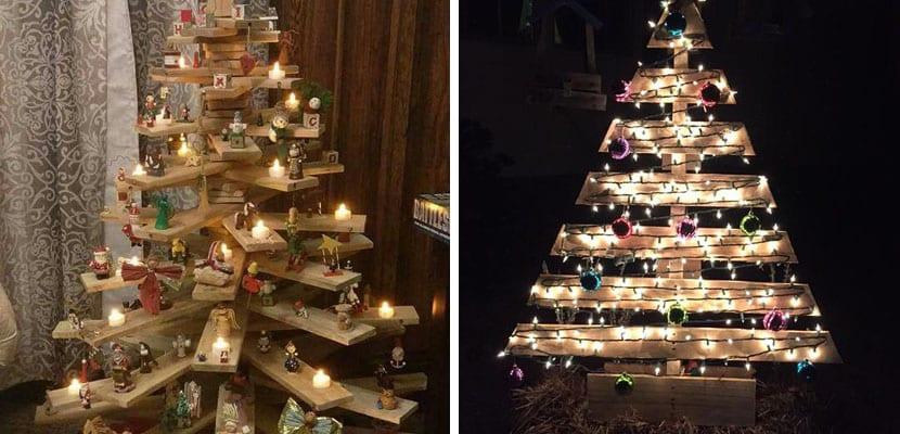 Rboles de navidad originales hechos con madera - Arbol de navidad hecho de luces ...