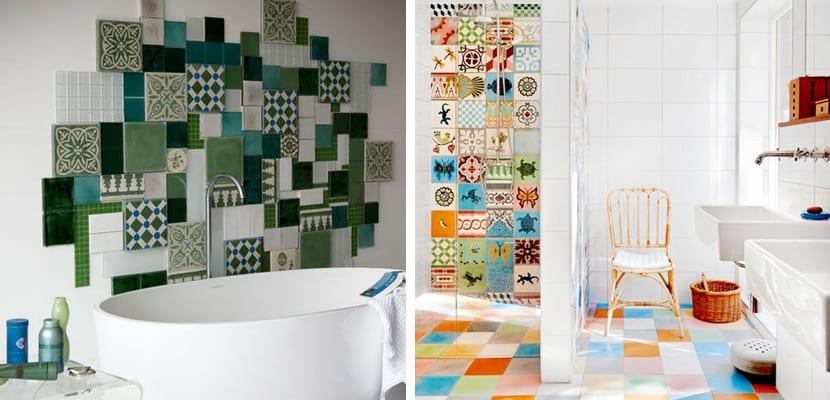 Azulejos hidráulicos de colores