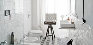 Baño vintage blanco