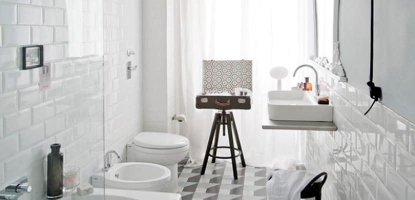 Baño Vintage | Bano Vintage En Color Blanco Total