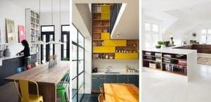 Bibliotecas en la cocina
