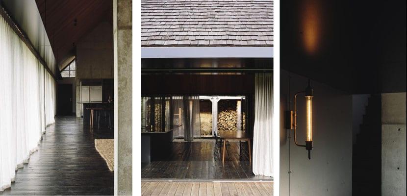 Una casa de madera abierta al bosque