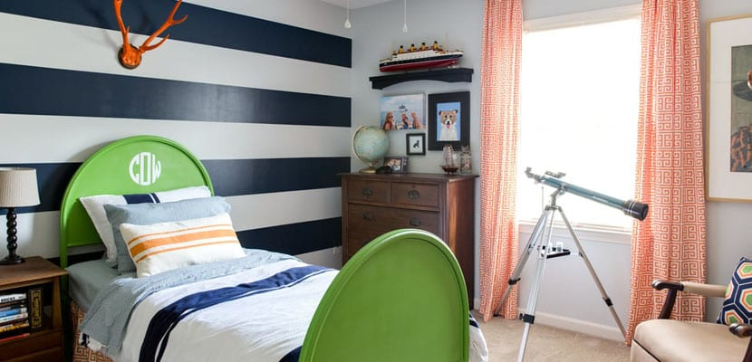 Dormitorio a rayas