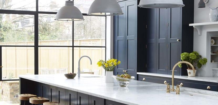 Lujo Color: Azul Marino Fotos De La Cocina Adorno - Ideas de ...