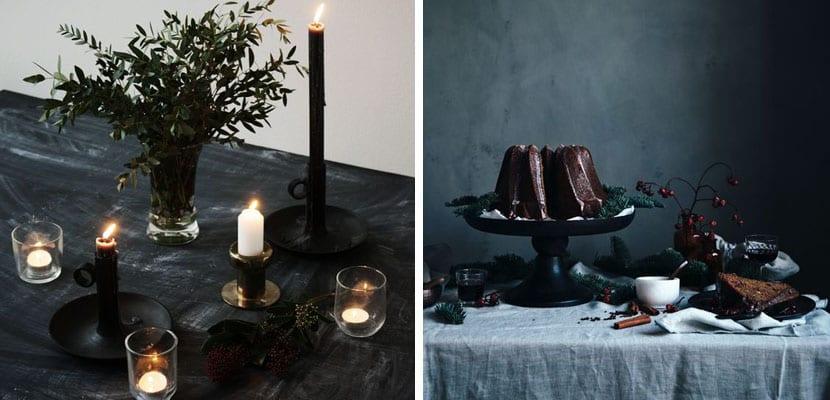 Mesas en tonos oscuros