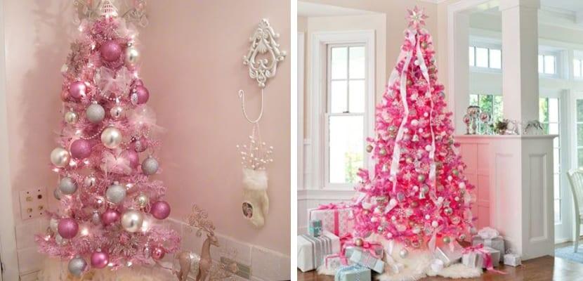 Árboles en color rosa