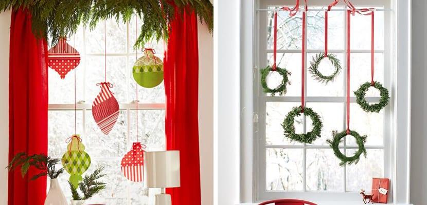 Decorar las ventanas en navidad for Decoracion de navidad para ventanas y puertas