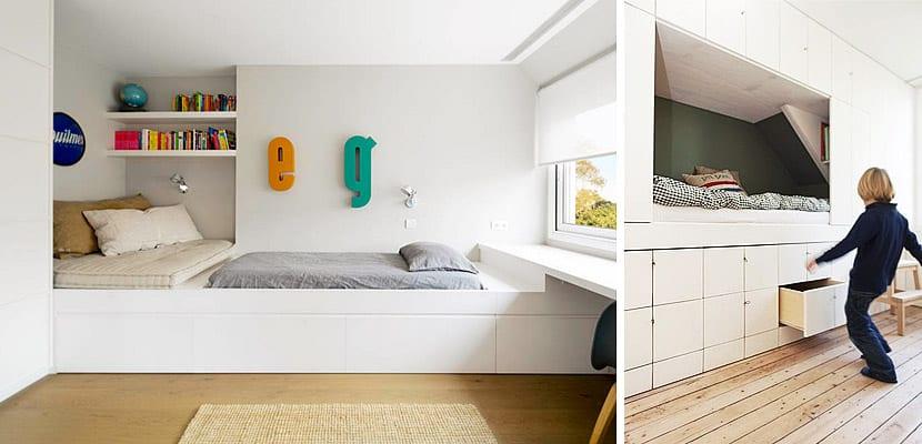 Dormitorio infantil estrecho
