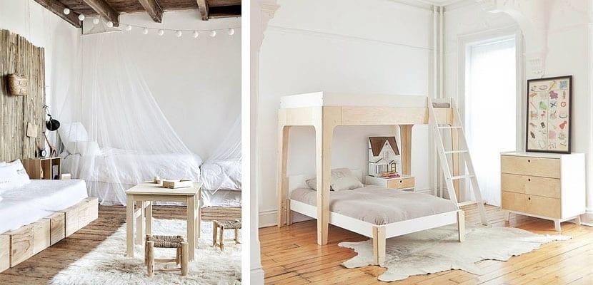 Dormitorios infantiles naturales y luminosos