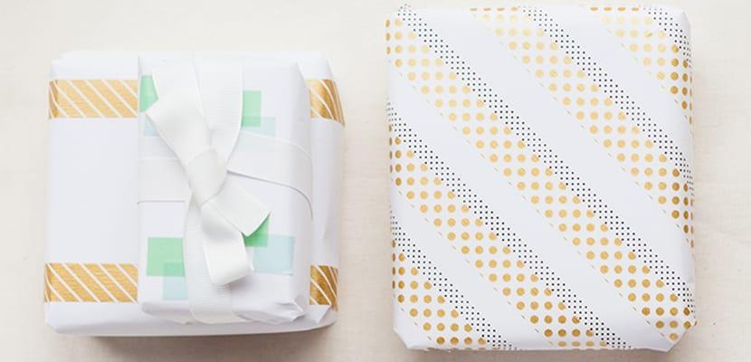 Envolver regalos con washi tape