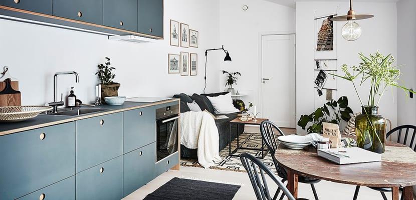 Muebles pintados en la cocina