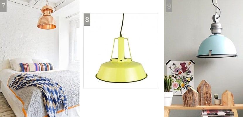 Lámparas industriales colgantes