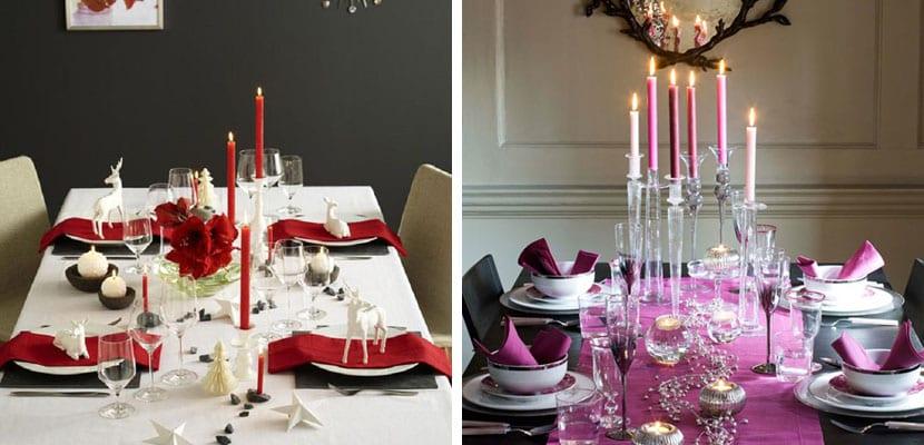 Mesa de navidad colorida
