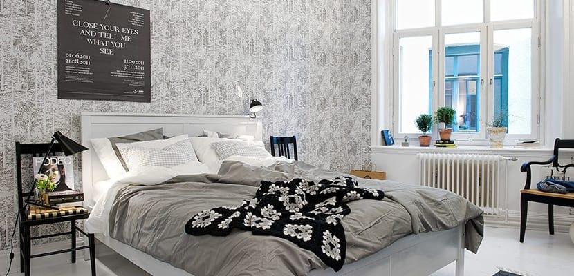 Papel pintado para un dormitorio compartido