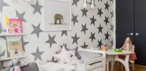 Papel pintado en dormitorio infantil