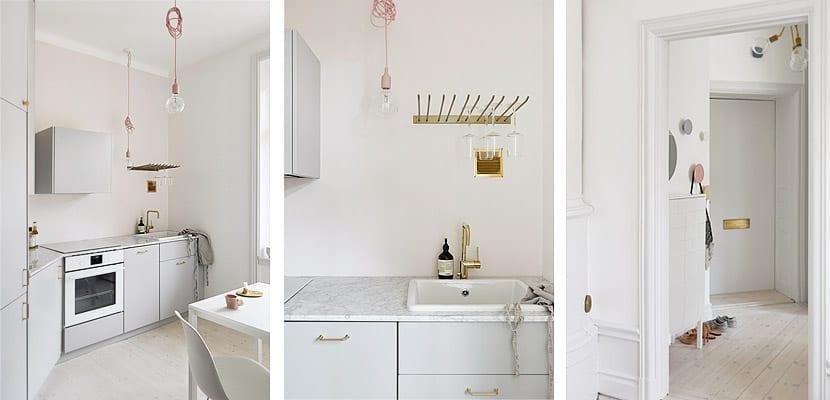 Un piso pequeño, minimalista y luminoso