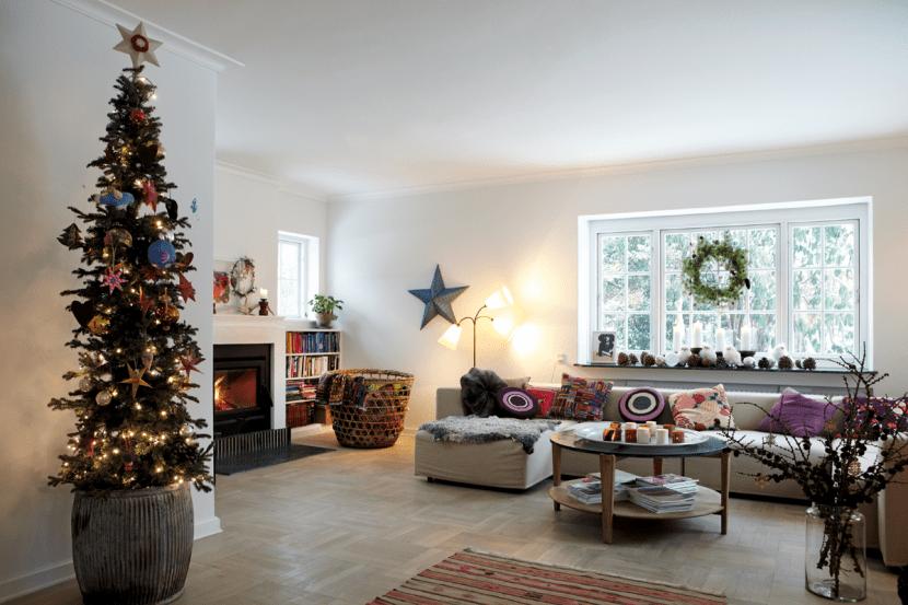 Casa bohemia por Navidad