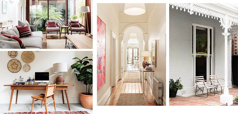Casa australiana con detalles de color