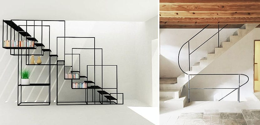 Barandillas met licas contempor neas para tu escalera - Barandillas de escaleras interiores ...