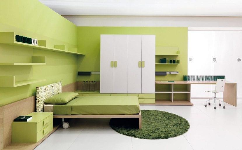 El color verde en la decoraci n de los dormitorios - Dormitorio verde ...