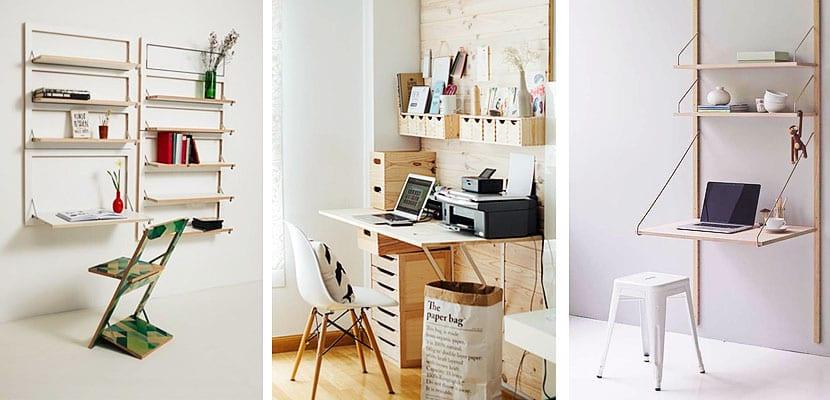 Mesas de escritorio abatibles