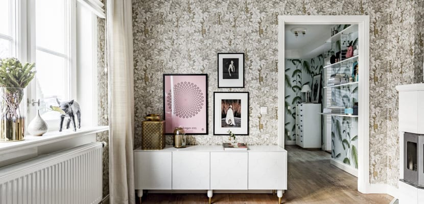 Papel pintado en el salón