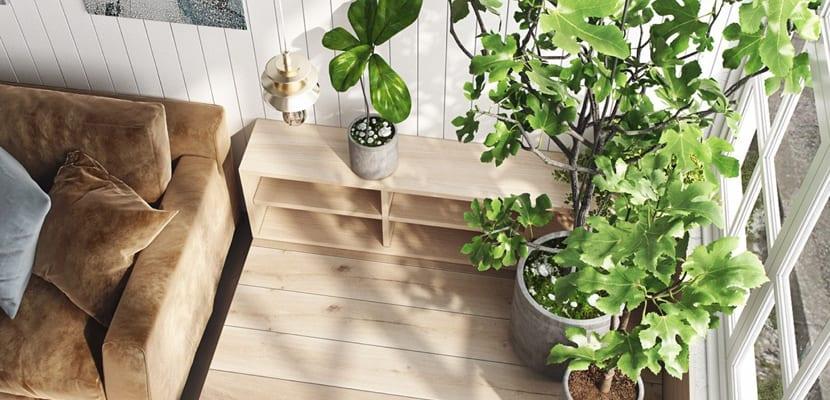 Ventajas de decorar con plantas artificiales for Plantas salon decoracion