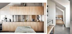 Vivienda contemporánea con muebles de madera