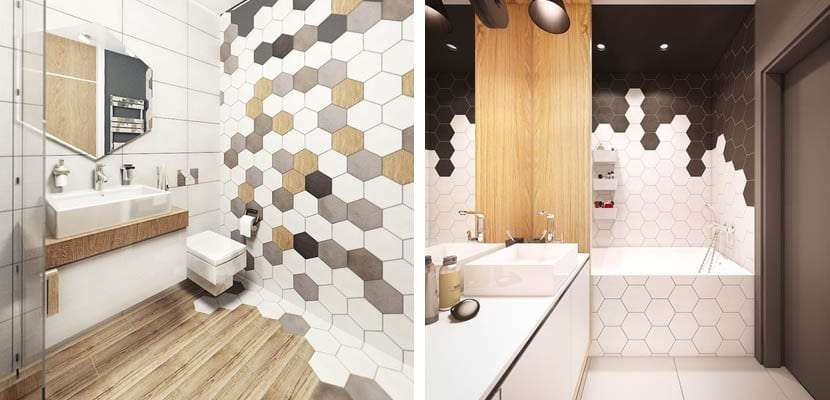 Decorar con azulejos hexagonales for Como limpiar las baldosas del bano