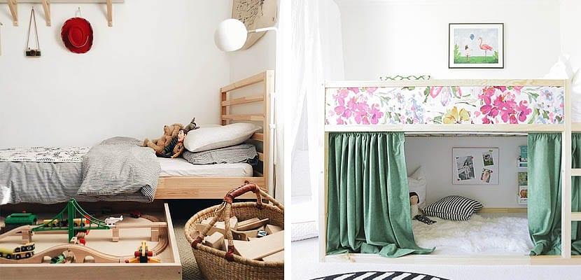 Como aprovechar el espacio bajo la cama de los niños