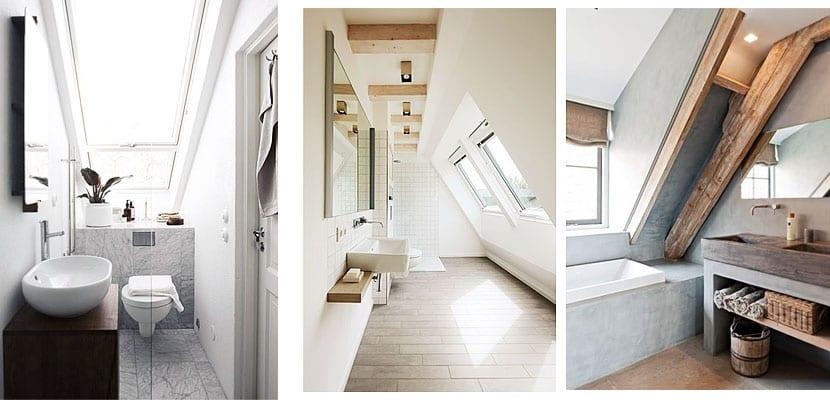 Ideas para amueblar cuartos de ba o abuhardillados for Amueblar bano