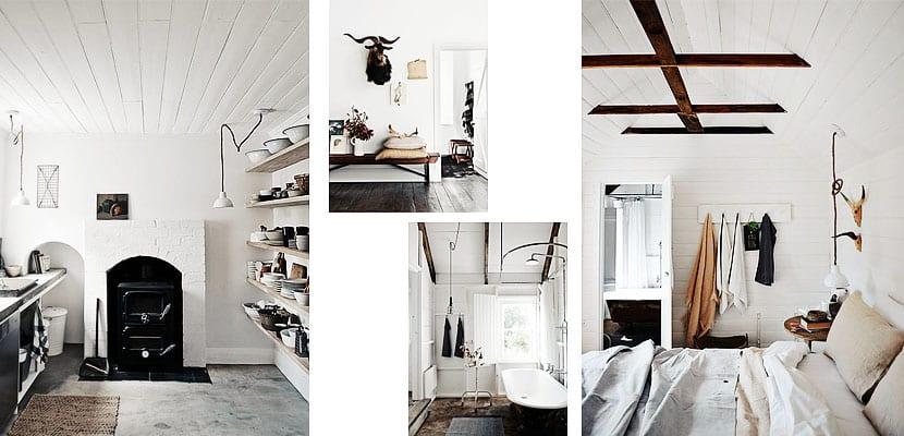 Casa centenaria de inspiración escandinava