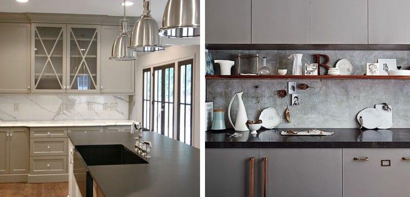 El gris en la decoraci n del hogar - Losas para cocina ...