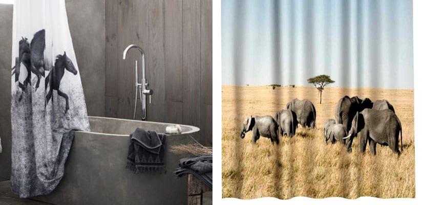 Cortinas de baño de animales