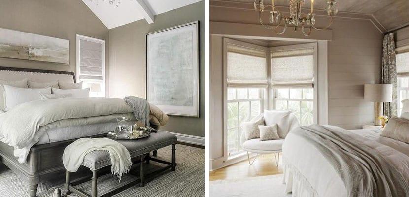 Decorar el dormitorio en color gris topo - Decorar paredes dormitorio ...