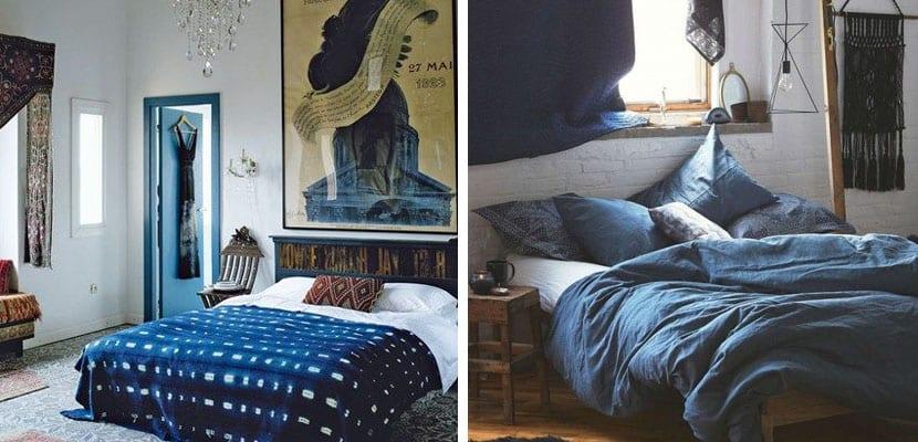Textiles azul índigo