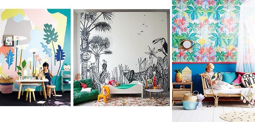 Dormitorios infantiles con ambiente tropical