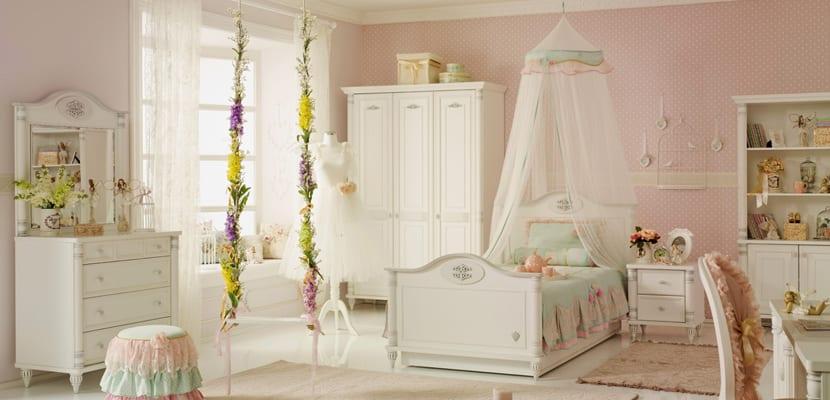 C mo decorar un dormitorio en estilo rom ntico - Camas estilo romantico ...