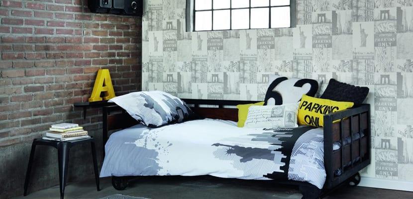 4 ideas en papel pintado para habitaciones juveniles - Decoracion de paredes de dormitorios juveniles ...