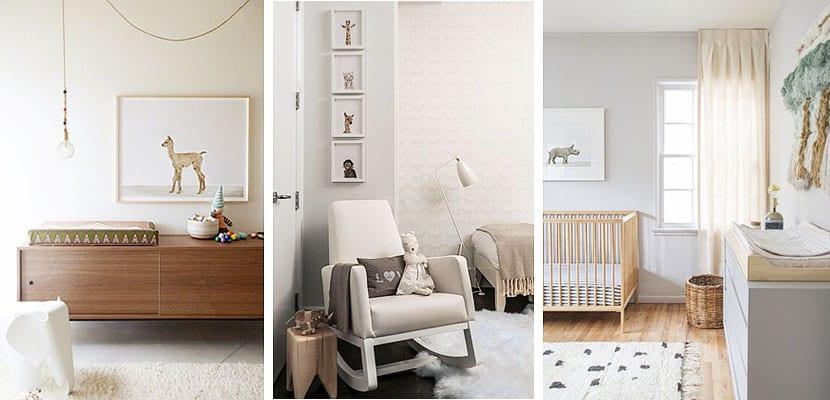 Láminas de animales decorando dormitorios de bebé