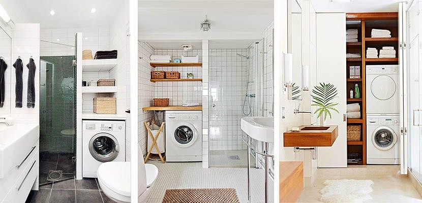 Ideas para integrar la lavadora en el cuarto de baño