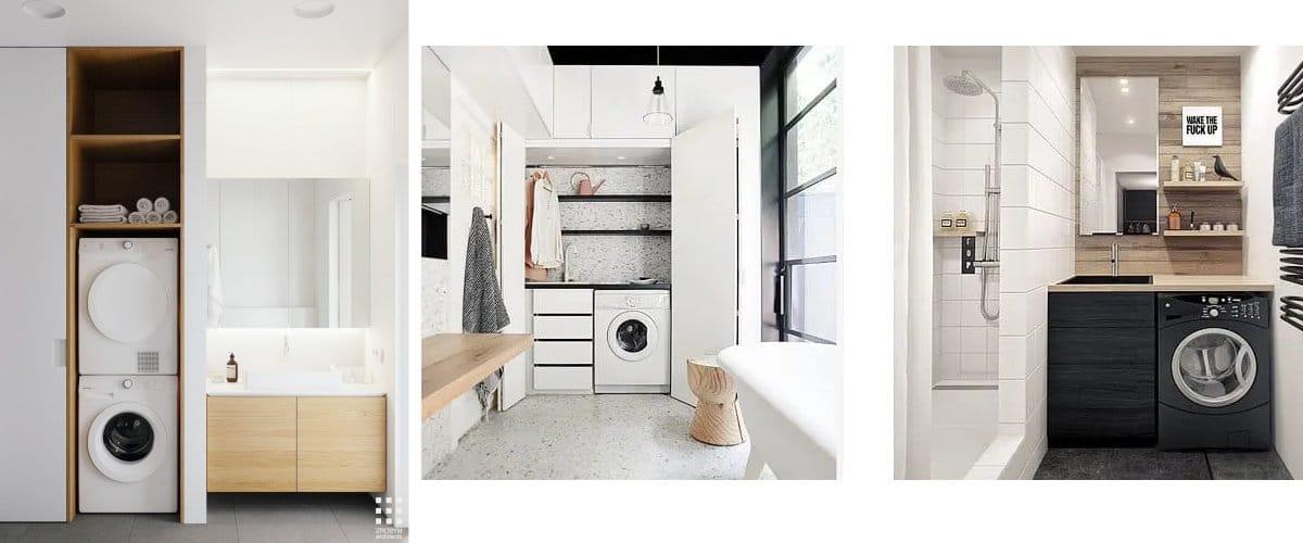 Lavadora en cuarto de baño