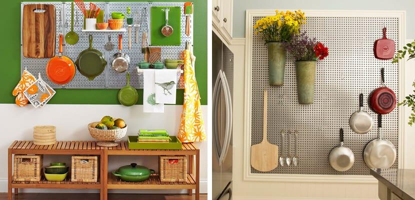 Paneles perforados para usar en la cocina - Paneles para cocinas ...