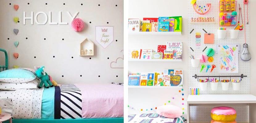 Paneles perforados para el cuarto infantil