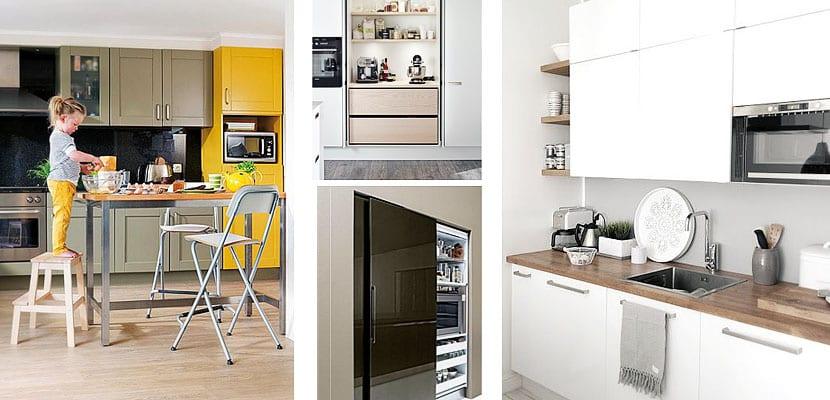 Ubicación del microondas en la cocina