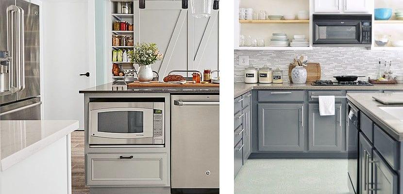 alternativas para ubicar el microondas en la cocina