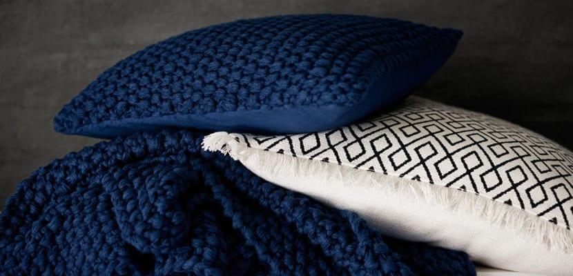 Textiles en azul